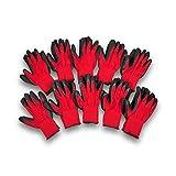 天然ゴム背抜き手袋(レッド)Sサイズ 10双入 無刻印 簡易包装 軍手工房