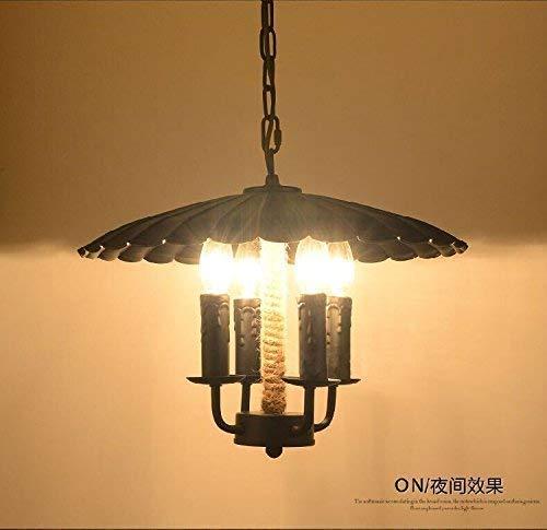 Pendelleuchte American Industrial Restaurant Cafe Stil Eisen Licht Abdeckung Retro Kreative Bekleidungsgeschäft Kronleuchter Seil Bar Wie in Abbildung gezeigt Die Lampe Quelle in der Abb