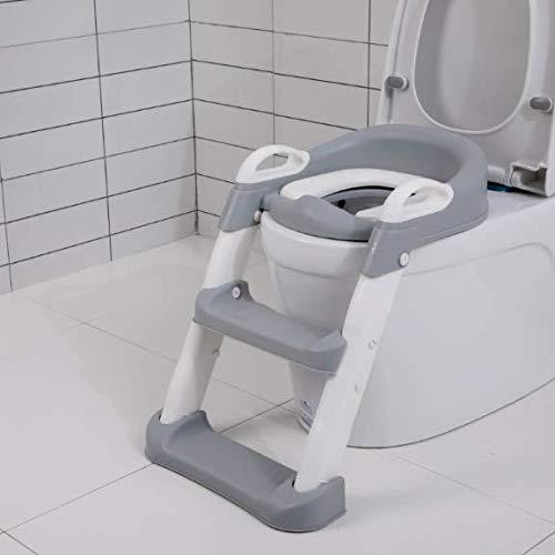 QAZW Ayuda para Aprender a IR al baño con Escalera Antideslizante Adaptador...