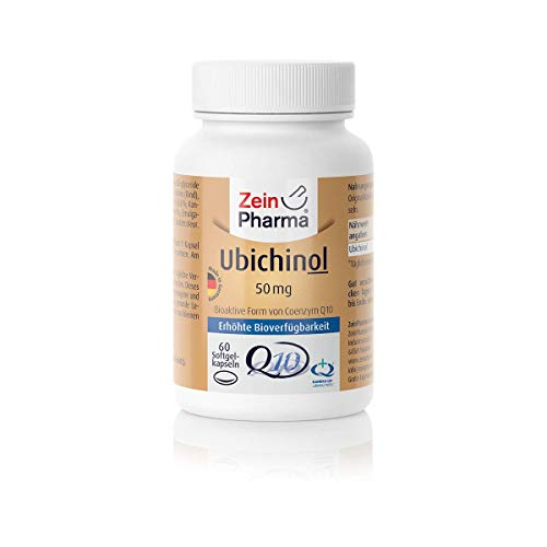 Zein Pharma Ubichinol Kapseln 50 mg, 60 Kapseln, 1er Pack (1 x 43 g)
