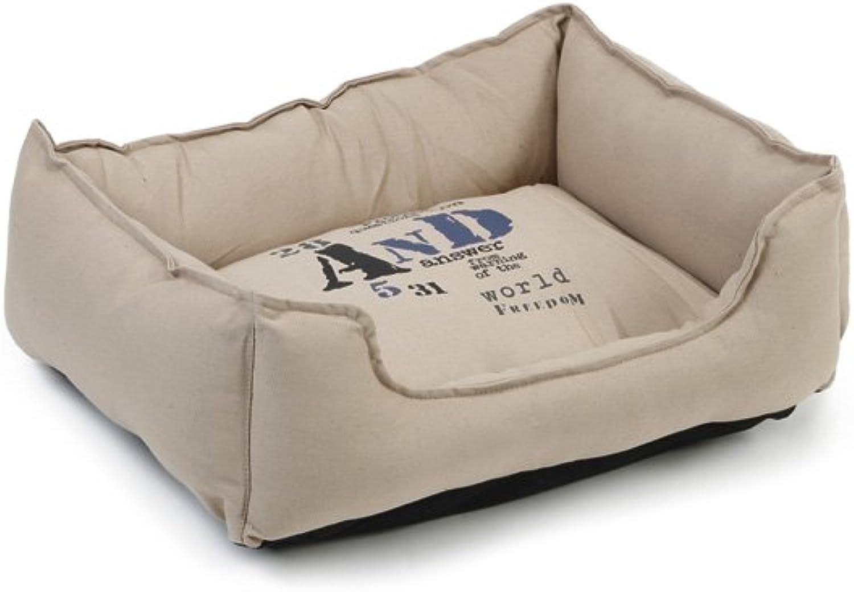 Beeztees Fonty Dog Rest Bed, 55 cm, Beige