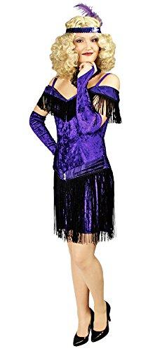 Charleston Kostüm Colette Fransenkleid Gr. 40 42 - Tolles 20er / 30 er Jahre Kostüm für Mottoparty oder Karneval