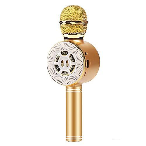 XFSE Telefon Mikrofon K Song-Live-Mikrofon Mikrofon Mikrofon Drahtlosen Bluetooth Stereo Integrated 25 * 3cm (Color : Yellow)