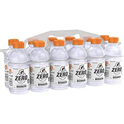 Gatorade G Zero Thirst Quencher, Glacier Cherry, 12 Ounce Bottles, 12 Count