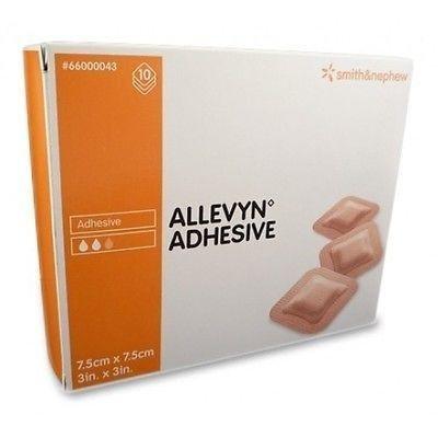 ALLEVYN selbstklebend Kompressen, 7,5cm x 7,5cm x 10–bei Wunden, Geschwüre, für Diabetiker