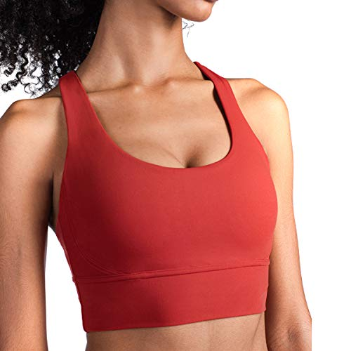 SOONHUA Women Sexy Backless Yoga Strappy Padded Solid Vesting Fitness Tank Bra Breathable Best Tops