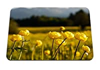 22cmx18cm マウスパッド (牧草地グローブ花ぼかし花) パターンカスタムの マウスパッド