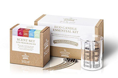 The Greatest Candle In The World Kit de Bougies Eco Cire végétale Blanc 24 x 14 x 15 cm