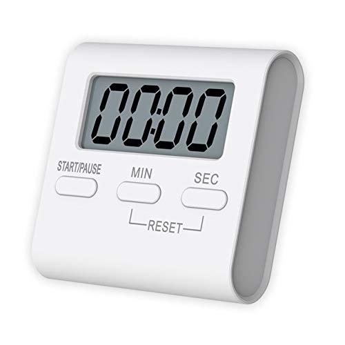 LCD-Bildschirm Digitale Küchenuhr Magnetic Kochen Countdown Alarm Schlaf Stoppuhr temporizador Uhr Start Multifunktionswerkzeuge (Color : Red)