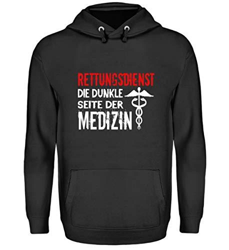 generisch Rettungsdienst Die Dunkle Seite Der Medizin|Rettungssanitäter|Rettungsassistent|Geschen - Unisex Kapuzenpullover Hoodie -M-Jet Schwarz