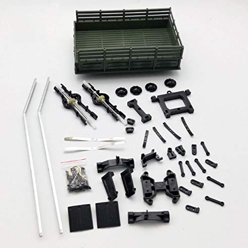 RC Spielzeug Anhänger Kit Glatt Fahrzeug Modell Militär LKW Metall für WPL B14 16 24