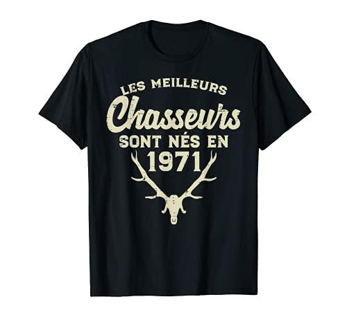 Homme Meilleurs Chasseurs 50ans Humour Anniversaire 50 Papa Cadeau T-Shirt