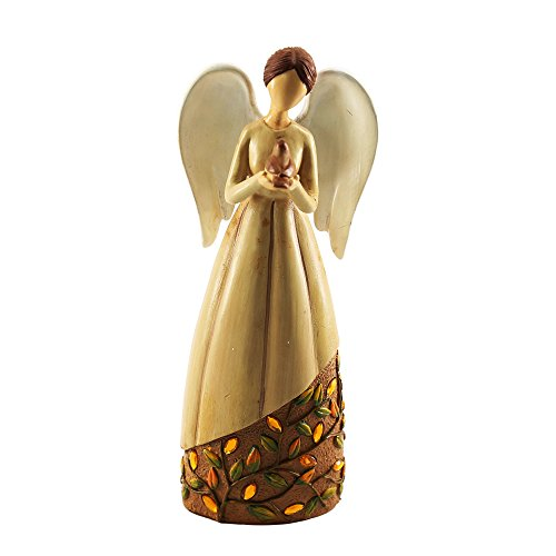 Oamore - Figura decorativa de ángel de oración cristiana y esculturas o decoraciones de Navidad como inspirador,...