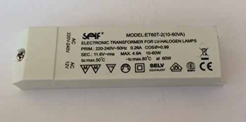 Halogen Trafo Self ET60T-2 (10-60VA) 60VA 60W klein elektronisch Transformator