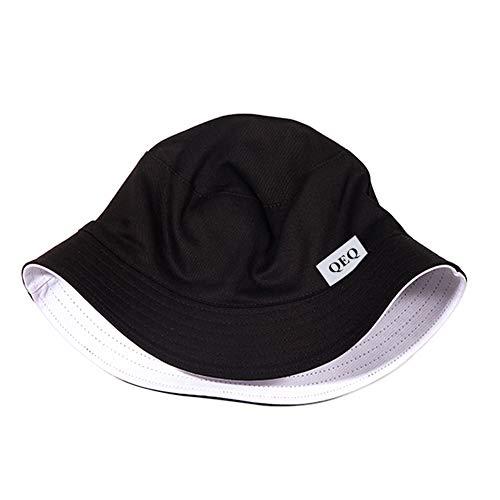 QEQ Cotton Bucket Hats (Unisex) Summer Fisherman Cap Outdoor Sports Bucket Cap