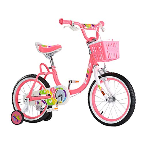 Children's Bicycle Pink Girl Bicycles 16 Inch Bikes 4-8 Year Old Children's Bicycle Best Birthday Gift Children's Road Bikes (Color : Pink, Size : 16 inches)
