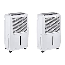 Haier 30 Pint 2 Speed Home Energy Star Portable Electronic Dehumidifier (2 Pack) 6 Pull excessive moisture from the air with this quiet dehumidifier Recommended for rooms betweeen 2000 to 2500 square feet 2 fan speed settings