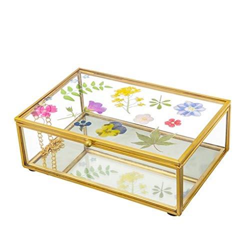 Preisvergleich Produktbild Sass & Belle Schmuckkästchen aus Glas,  gepresste Blumen