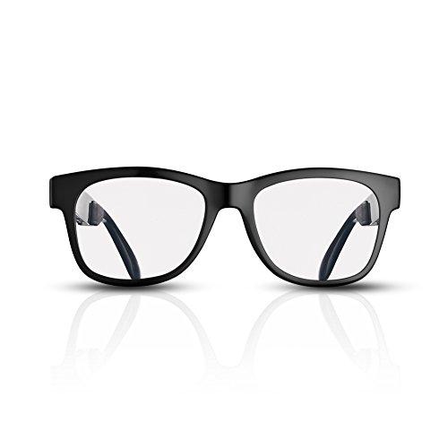 VOCALSKULL Bluetooth Sonnenbrille für Damen und Herren Audio-Lautsprecher Kopfhörer Frosted Frame Clear Lens