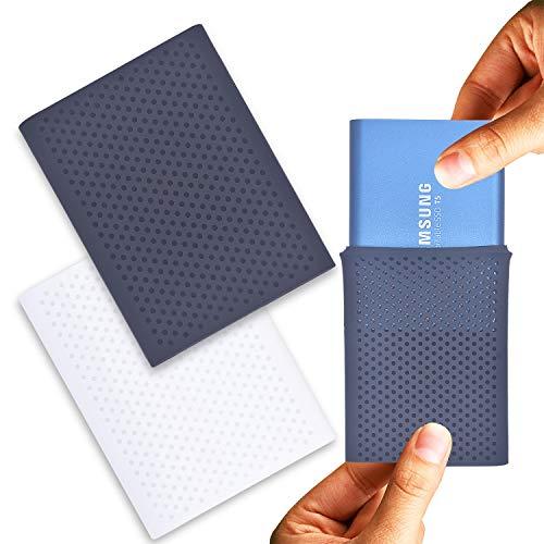 Samsung T5 SSD 収納 保護,Samsung T5 T3 T1 シリーズ SSD ケース&外付け シリコンケース シリコン保護カバー ポータブル 、Samsung T5 SSD トレージ旅行携帯バッグ