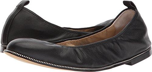 botkier Womens Mason Ballet Flat, Black Leather, 7