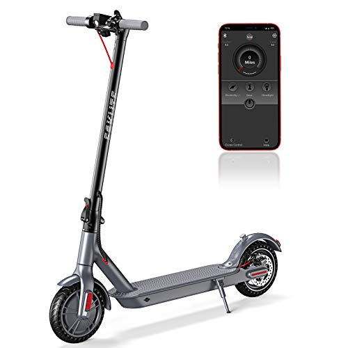 """ESKUTE APP Electric Scooter,Up to 18.6 Miles & 15MPH,8.5"""" Solid Tires,350W Motor Long-Range Battery,Electric Scooter for Adults Teens,Foldable & Portable Commuting Scooter with Double Braking System"""