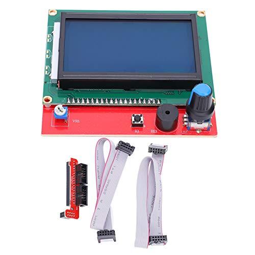 SALUTUYA 12864 LCD-Steuermodul Bedienfeldanzeige Motherboard 3D-Drucker Smart Controller + 2-teilige Leitungen, LCD-Anzeige für 3D-Drucker
