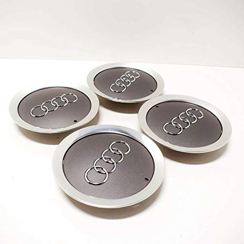 GTV INVESTMENTS A6 4F2 coprimozzo centrale, 4 pezzi, grigio metallizzato 4E0601165A7ZJ