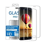Novago Compatible avec Samsung Galaxy S6 Edge - 2 Films en Verre trempé incurvé (Arrondi sur Le Bord) Protège la Totalité de...