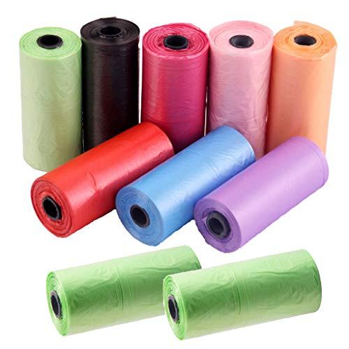 RROVE 10 Roll Portable Baby Diaper Waste Bag Poussettes pour bébés Sacs à ordures jetables
