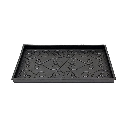 Achla Designs Scrollwork Rubber Boot Tray, Small