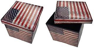 GMMH Taburete Taburete EEUU Original Caja Aufbewahrungsbox Cubo-Asiento Aparador Escabel reposapies Asiento Plegable