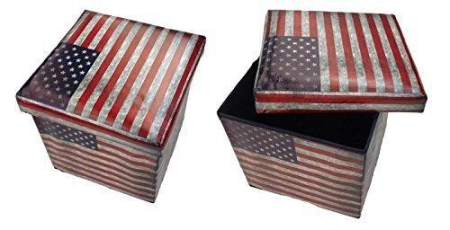 GMMH Tabouret USA Banc de Rangement Pliable