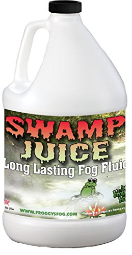 Froggys Fog - Swamp Juice - Ridiculously Long Lasting Fog Fluid - 2-3 Hour Hand Time - 1 Gallon - For Professional and Home Haunters, Theatrical Effects, DJs
