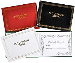 Srenta Landscape Autograph Book   Permanent Place for Celebrity Signature Moments   48 Blank Colorful Pages, Pack of 12