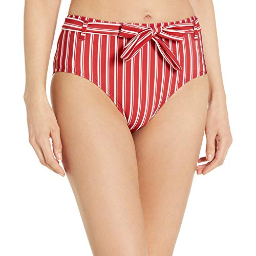 Ella Moss Damen Basic High Waist Swimsuit Bikini Bottom Bikinihose, Samtrot, Medium