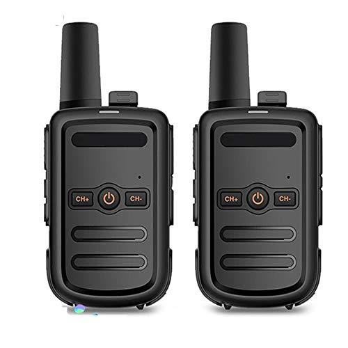 HGFDSA Walkie Talkies Radio Ricaricabile a Due Vie con Base di Ricarica USB E Auricolare per Comunicazione di Lavoro in Bici per Escursionismo per Adulti (Nero, 2 Paia)