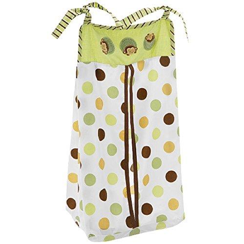 Kids Line Pop Monkey Embroidered Baby Boy Diaper Stacker Green