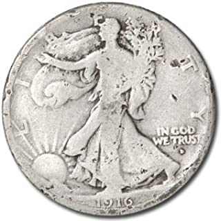 1916 D Walking Liberty Half Dollar Good Details (Damaged) Half Dollar Good