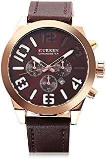 Curren Casual Watch For Men Analog Leather - 8198
