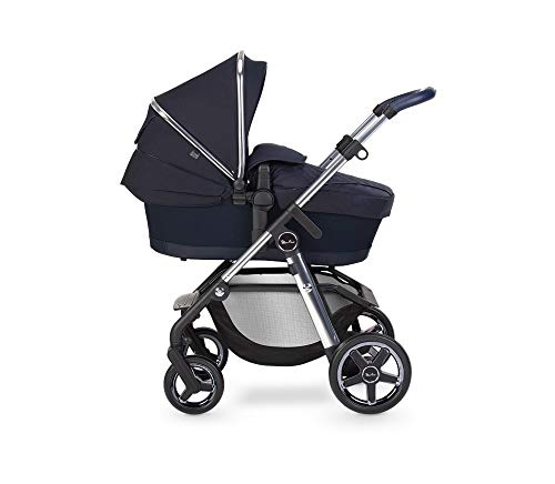 Silver Cross Pioneer Travel System, Multi-Terrain Baby Pram for Newborn to Toddler, for City to Off Road, with Reclinable Reversible Pushchair Seat and Carrycot - Sapphire