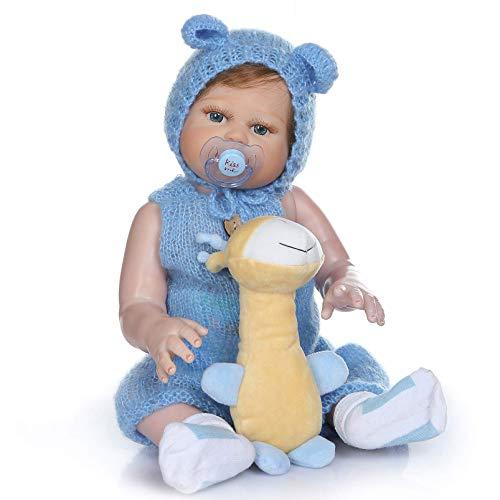 SERBHN 48Cm Reborn Doll Simulación De Silicona Baby Poupet Toys para Cumpleaños para Niños, Festival para Niños Regalo-Blue