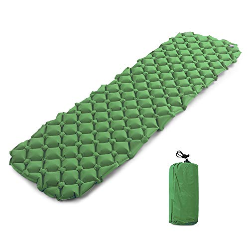 Lixada Inflatable Sleeping Pad, Leakproof Camping Mats for Sleeping - w/Pillow Dry Sack Bag - Compact Lightweight Camp Mat, Backpacking Mattress Best as Outdoor Tent Hammock Pads