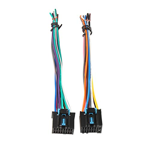 RED WOLF Factory Radio Stereo Original Male Plug Wire Harness Adapter Replacement for GM GMC Chevrolet Pontiac Buick 2006-2017 Model
