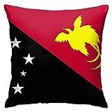 N\A Flagge von Papua-Neuguinea Kissenbezüge Dekorative quadratische Kissenbezug Weiche solide Kissenbezug für Sofa Schlafzimmer Auto