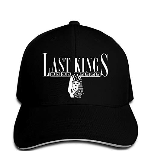 Baseball Cap Herren Baseball Cap Klassische Last King Baseball Cap Black Logo Klapperschlange Hip Hop Rock