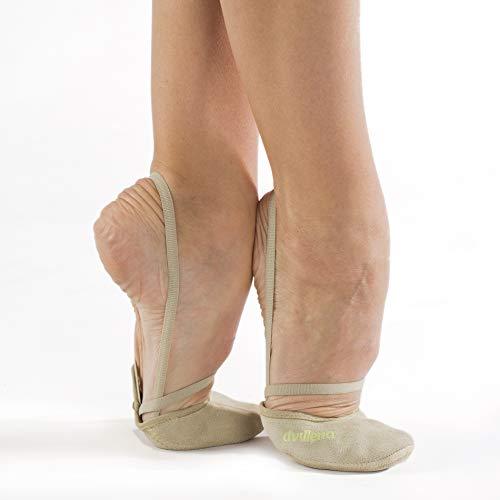 dvillena - Modelo Entrenamiento Serraje | Famosa Marca de Punteras de Gimnasia Rítmica Niña y Mujer | Puntas Que Usan Grandes Gimnastas Mundiales | Bailarinas Aérobica Deporte Danza Zapatillas Ballet