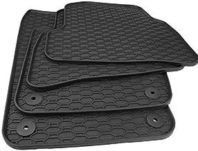 OtoLiman Golf7 MK7 Black 2013-2018 Car%100 Rubber Front Rear Floor Mats All Weather Heavy Duty Tall Channel-Custom Fit for Golf 7