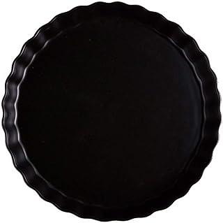 NICEXMAS 10 Pouces Plat à Tarte en Céramique Moule à Tarte Plat de Cuisson Rond pour Quiche Gratin Gâteau Pizza Dessert (N...