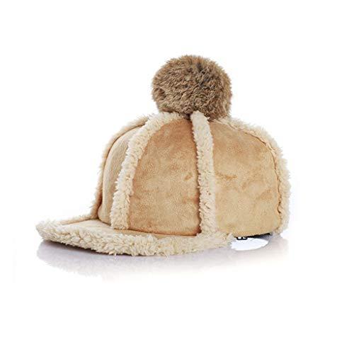 ZYSWP Mzwjtzkd Fashion Baby Winter Hats for Girls Boys con Bola de Piel Desmontable Cap de niño Ajustable (Color : A)
